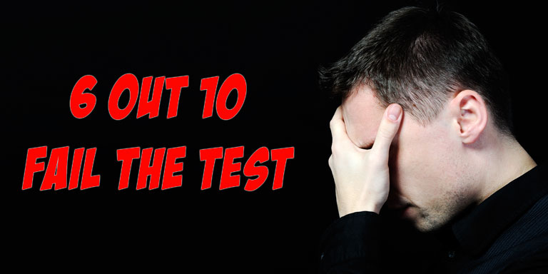 6 out 10 fail the Missouri written test