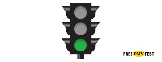 Solid Green Traffic Signal - Free DMV Test