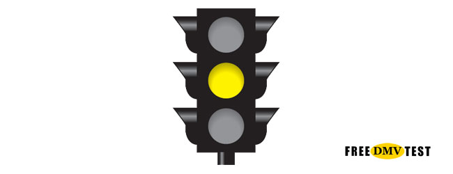 Solid Yellow Traffic Signal - Free DMV Test