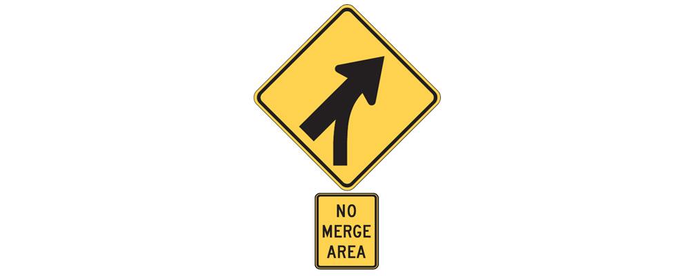 No merging area - supplemental plaque