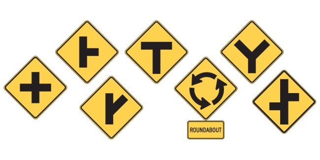 Intersection signs - FreeDMVTest.org