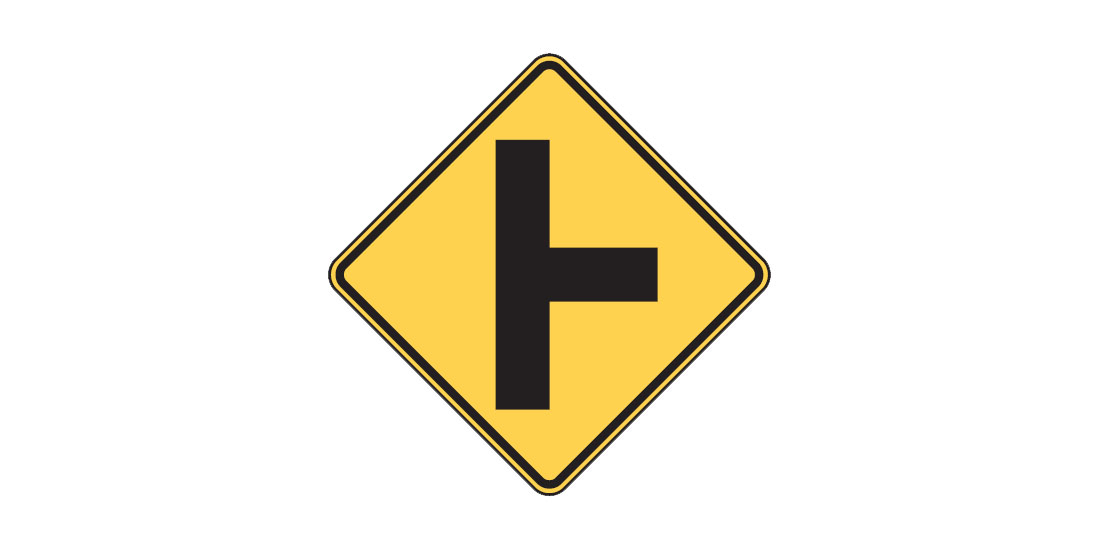 Intersection sign W2-2