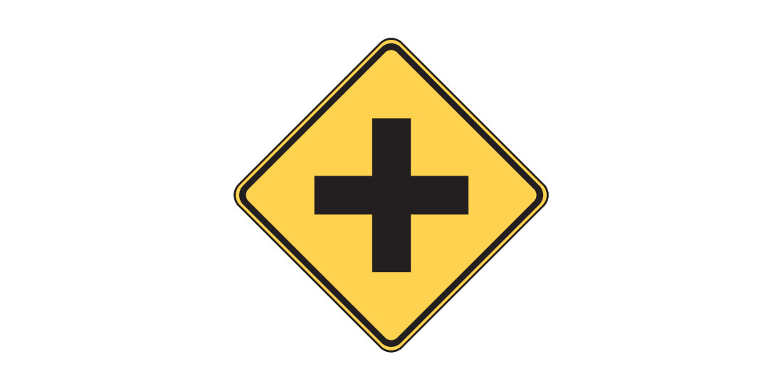 Intersection sign W2-1