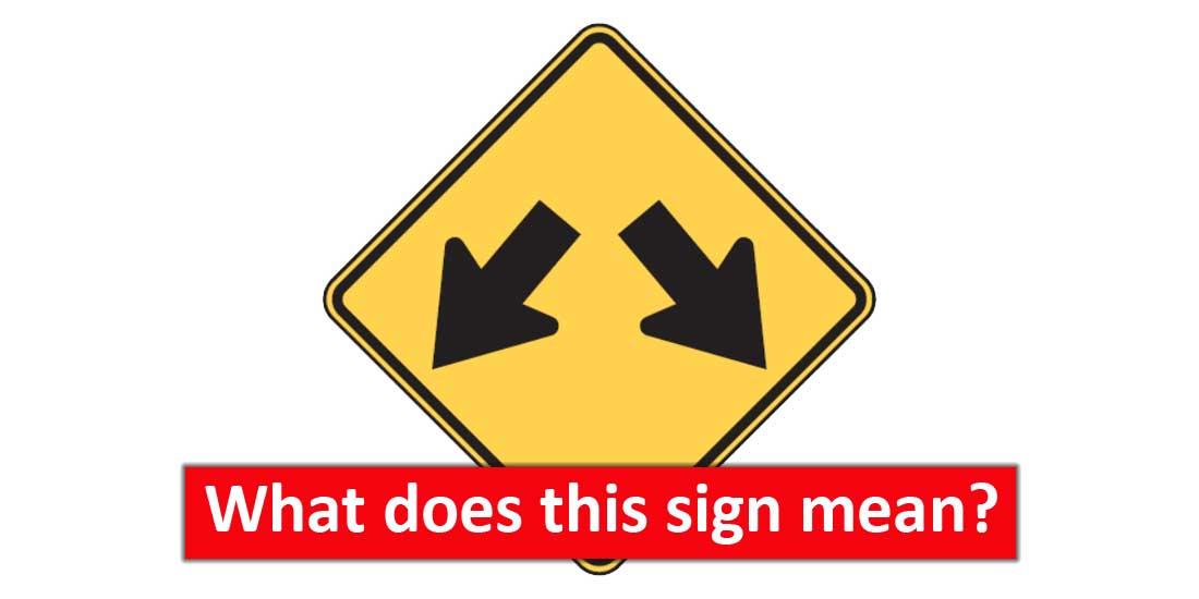 W12-1 Double Arrow Sign