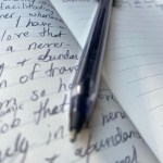 pen on paper writing affirmations