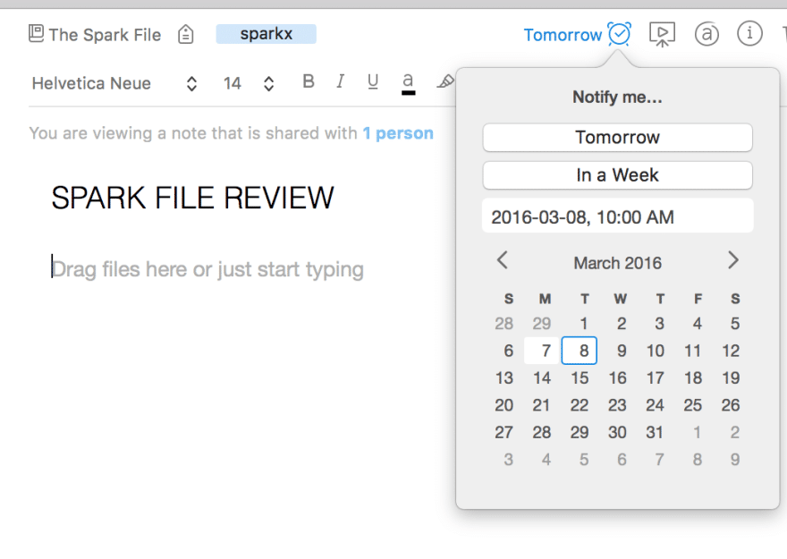 spark file Evernote