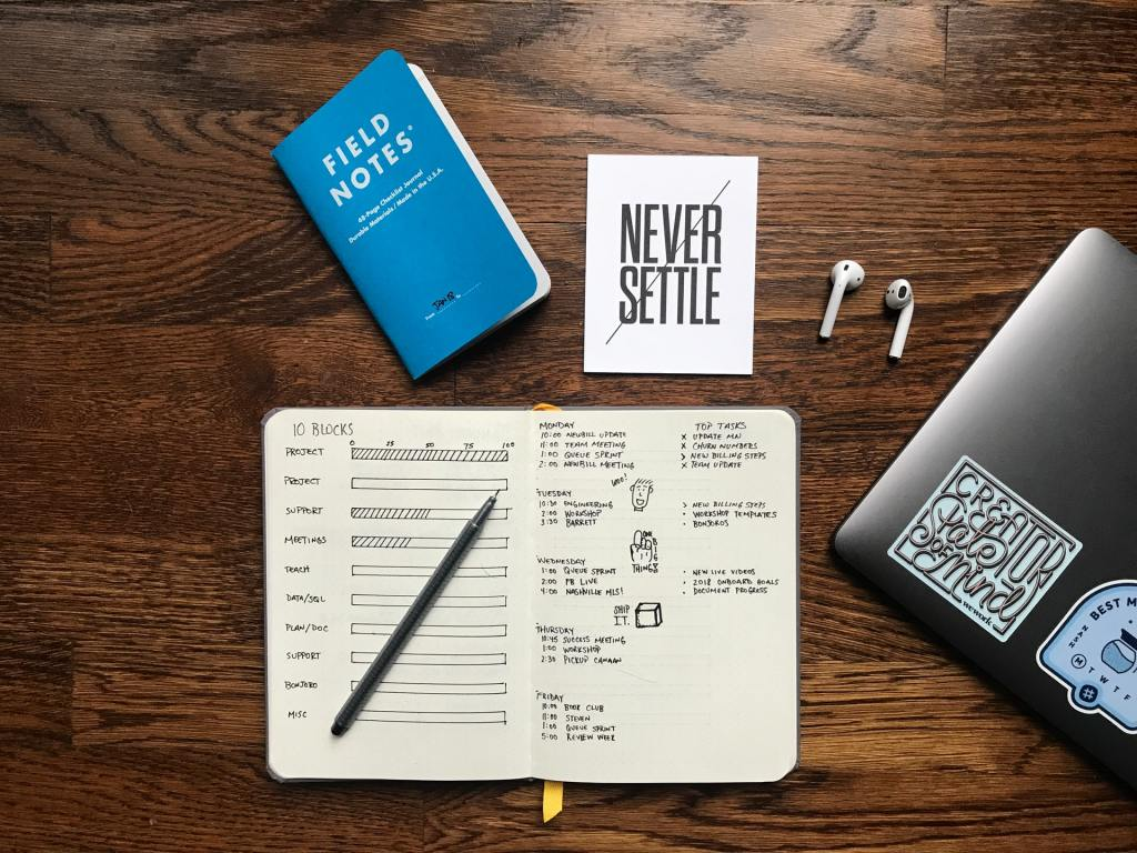 reassess your goals and priorities - tracking goals in planner