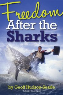 """Book Cover """"Freedom After The Sharks"""""""
