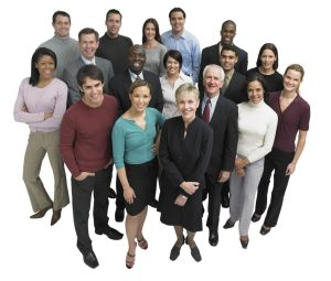 diverse group of professionals