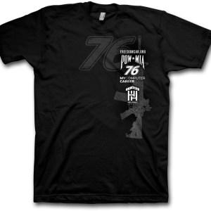 Black POW-MIA 76 Freedom Car T-shirt