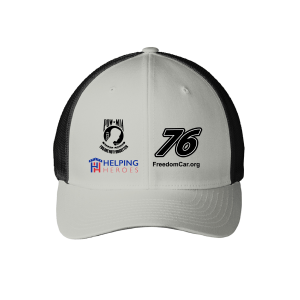 Grey POW-MIA 76 Freedom Car Flex Baseball Hat