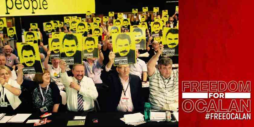 Free Ocalan! The emphatic demand from TUC Annual Congress 2019