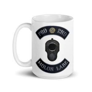 Pro 2nd Amendment - Molon Labe - M1911 15 oz Mug
