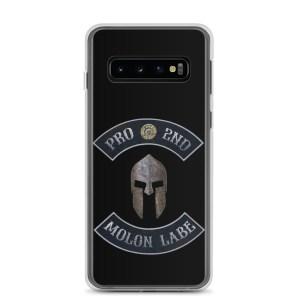 Pro 2nd Amendment – Molon Labe – Spartan Helmet Samsung Galaxy S10 Case