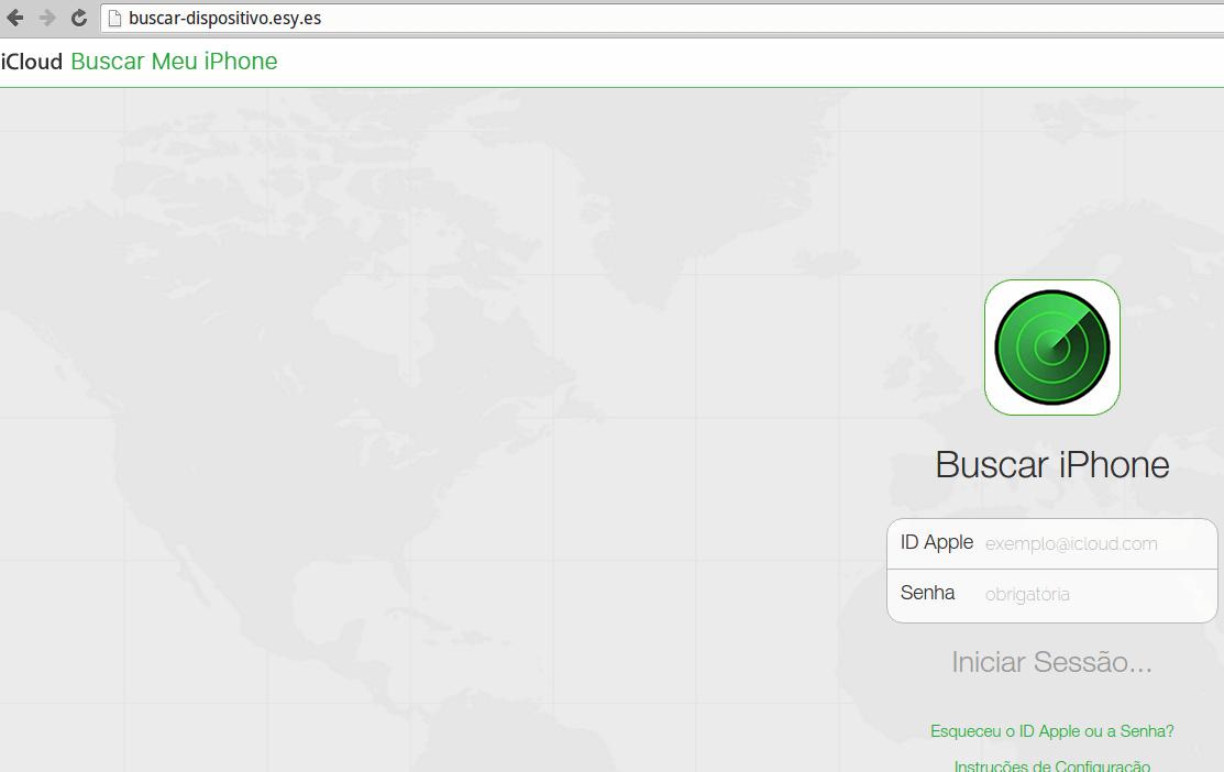 Apple Phishing Page