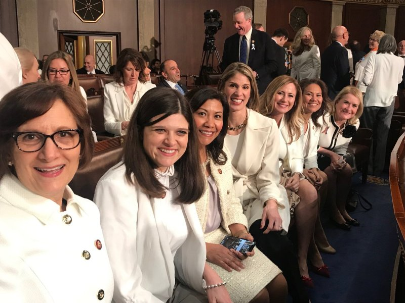 The Real Reason Women Wore White At SOTU Address