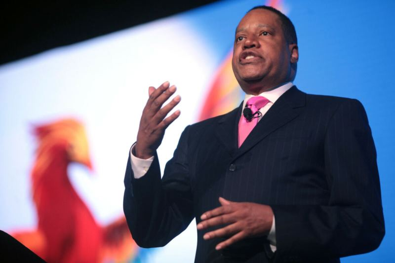 LA Times Uses Misleading Photo of Larry Elder to Make it Appear He is Slapping a Woman in Story Him Being Attacked