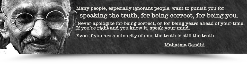 Gandhi-Minority-of-one