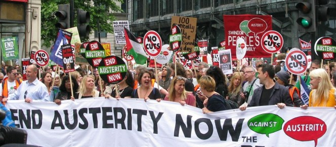 Happy demonstration over austerity that is killing people. (Peter Damien, CC BY-SA 3.0