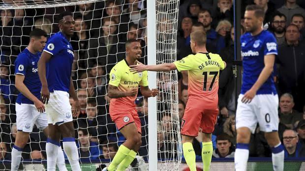 epl - Jesus, Mahrez, Sterling score as Manchester City overcome Everton