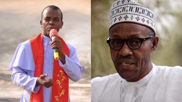 Presidency: Mbaka is angry because he asked for contracts from Buhari