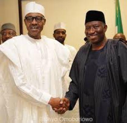 President Muhammad Buhari (L) and Former President Goodluck Jonathan (R)