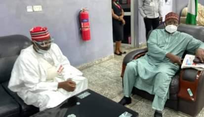 Dakta Rabi'u Musa Kwankwaso da Dakta Abdullahi Baffa Bichi.