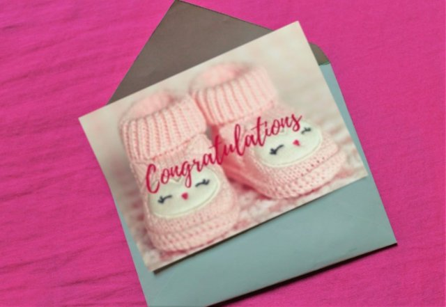 Congratulations on Baby Girl Sample Greeting Card