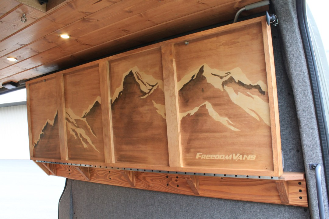 Custom artwork on underside of bed