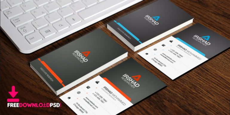 Free Visiting Cards Template PSD