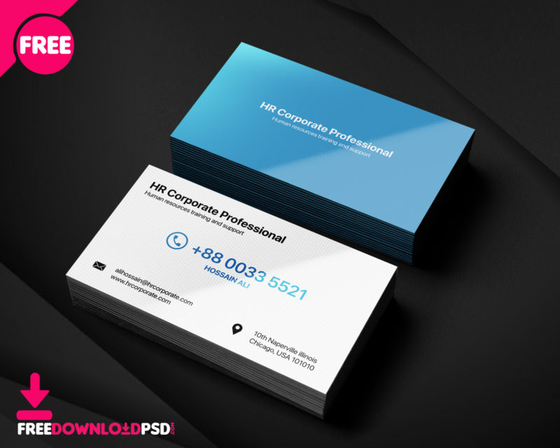 Free PSD Personal Business Card PSD