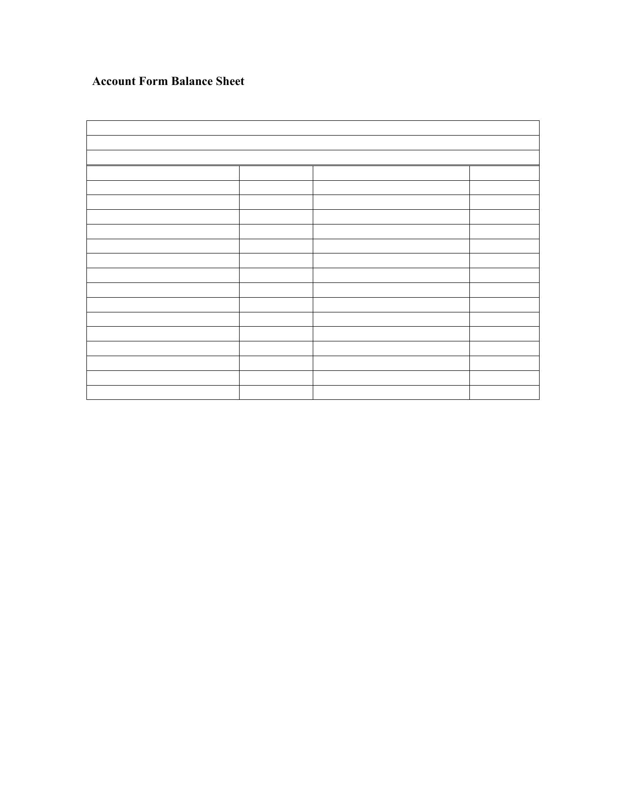 Download Accounting Balance Sheet Template