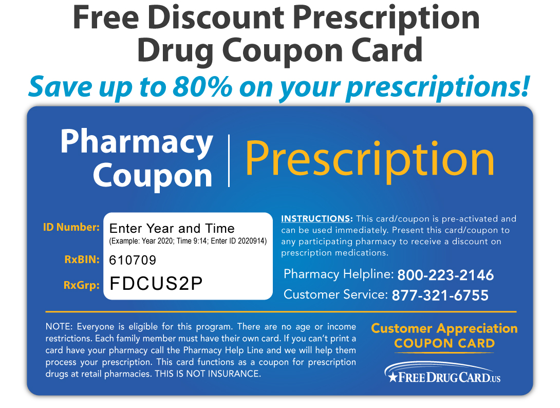 Walmart Pharmacy Discount Prescription Card Savings On