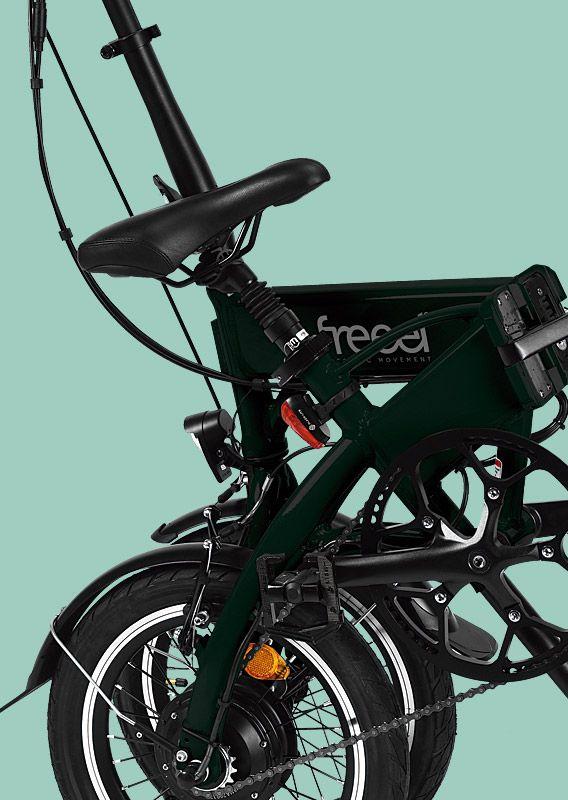 Freeel Bicicletas Eléctricas. Freeel Z03, la bicicleta plegable diseñada en Barcelona. Freeel Z03 Verde botella