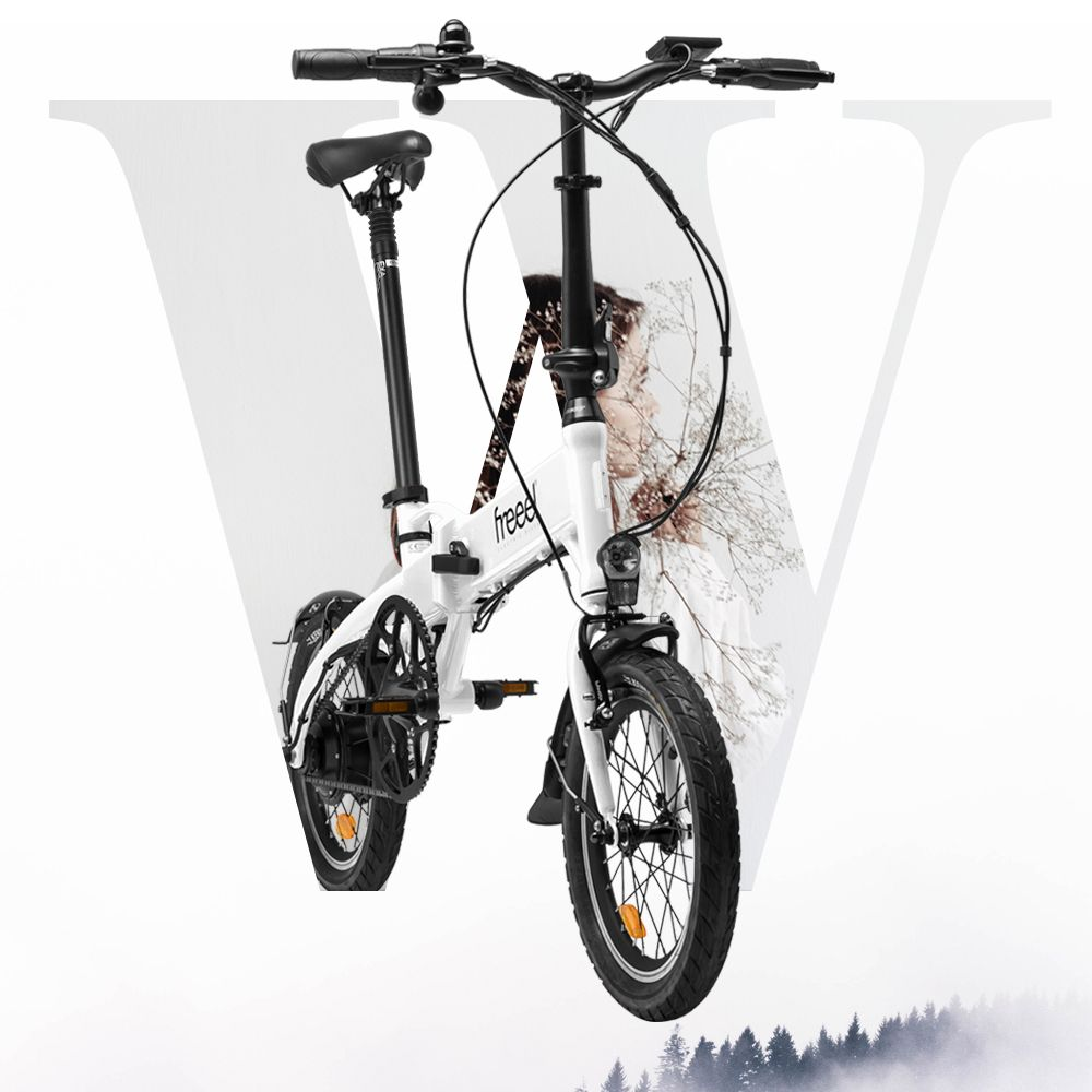 Freeel Bicicletas Eléctricas. Freeel Z03, la bicicleta plegable diseñada en Barcelona. Freeel Z03 Blanco
