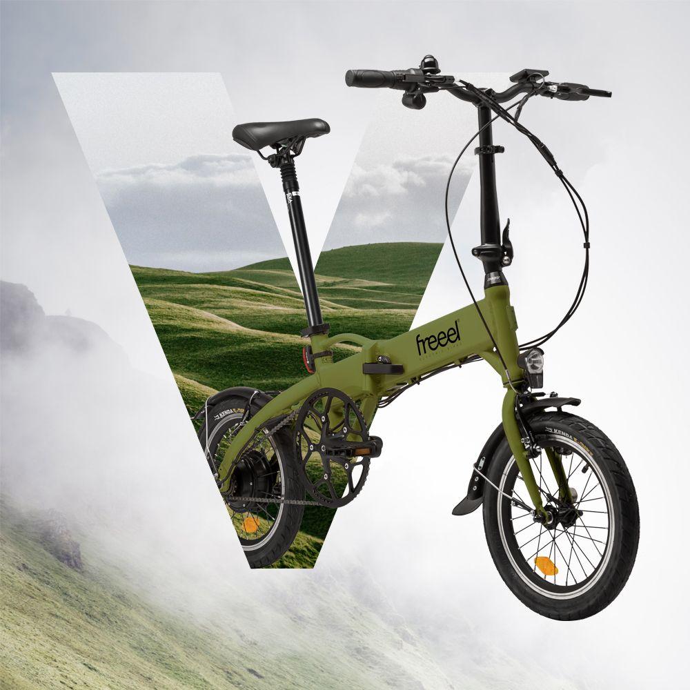 Freeel Bicicletas Eléctricas. Freeel Z03, la bicicleta plegable diseñada en Barcelona. Freeel Z03 Verde oliva