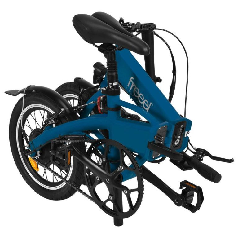 Freeel Bicicletas Eléctricas. Freeel Z03-S Classic Blue Mate, bicicleta eléctrica, plegable y ligera