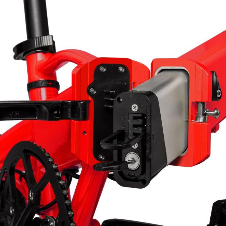 Freeel Bicicletas Eléctricas. Freeel Z03-S Rojo Red Hot, bicicleta eléctrica, plegable y ligera