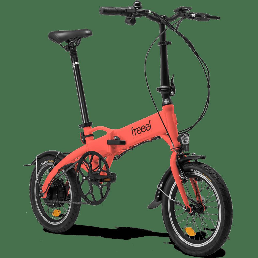 Freeel Bicicletas Eléctricas. Freeel Z03-S Coral Mate, bicicleta eléctrica, plegable y ligera