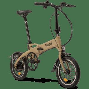 Freeel Bicicletas Eléctricas. Freeel Z03-S Crema, bicicleta eléctrica, plegable y ligera