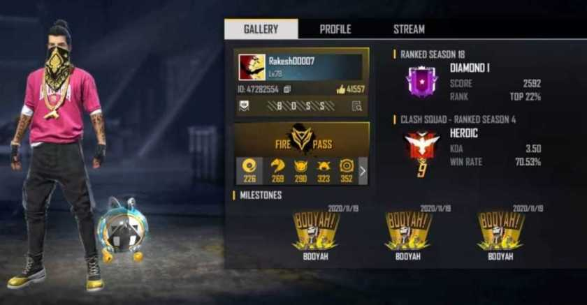 Best Free Fire Player in India