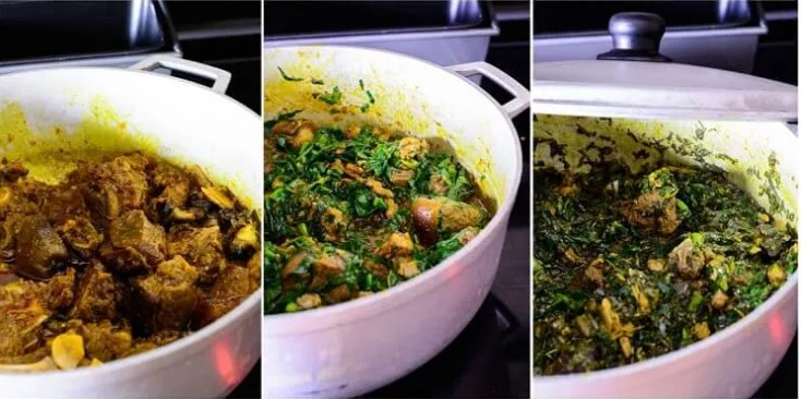 how to cook vegetable soup with water leaf