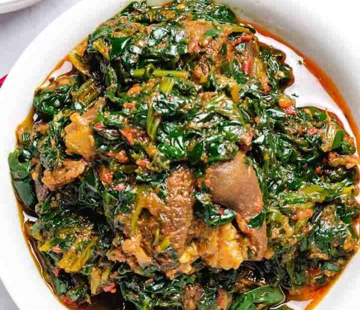how to cook vegetable soup with ugu and water leaf