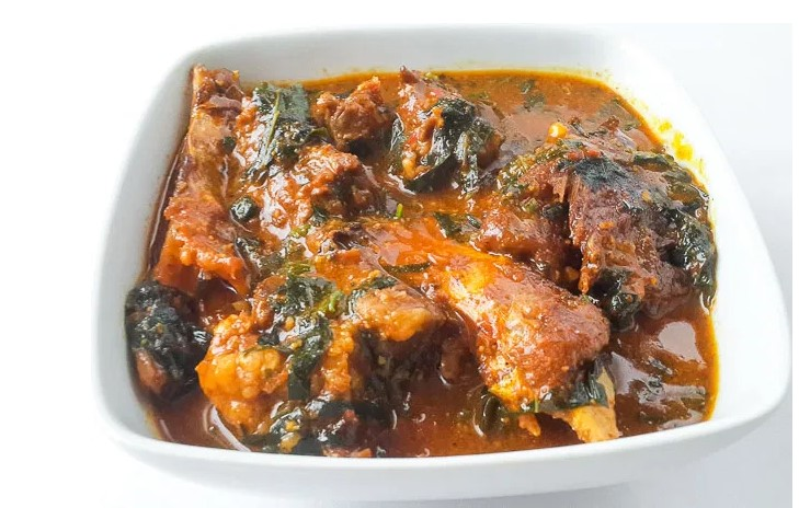 how to cook ogbono soup with ugu, water leaf or bitter leaf