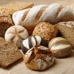A selection of whole grain breads.