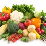 A selection of vegetables.