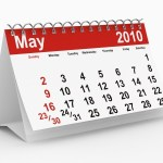 A calendar showing May 2010.