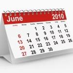 A calendar for June 2010.