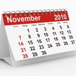 A calendar showing November 2010.