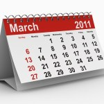 A calendar showing March 2011.
